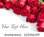 Stock photo red roses on white background 122346199
