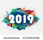 2019 new year | Shutterstock .eps vector #1223465446