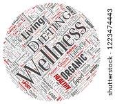 vector conceptual healthy... | Shutterstock .eps vector #1223474443