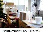 christmas gifts  greeting...   Shutterstock . vector #1223476393