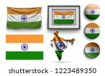set of india flags collection... | Shutterstock .eps vector #1223489350
