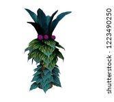 fantasy pal tree 2d game asset... | Shutterstock . vector #1223490250