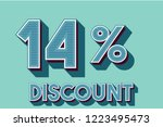 14  off discount promotion sale ... | Shutterstock .eps vector #1223495473