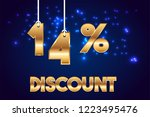 14  off discount promotion sale ... | Shutterstock .eps vector #1223495476