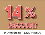 14  off discount promotion sale ... | Shutterstock .eps vector #1223495503
