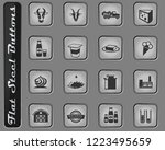 milk vector web icons on the...   Shutterstock .eps vector #1223495659