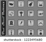 memorial day vector web icons... | Shutterstock .eps vector #1223495680