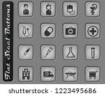 medical vector web icons on the ... | Shutterstock .eps vector #1223495686