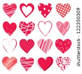 valentine day doodle hearts | Shutterstock .eps vector #122350309