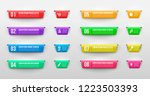 set of infographic banners.... | Shutterstock .eps vector #1223503393