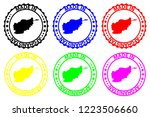 made in afghanistan    rubber... | Shutterstock .eps vector #1223506660