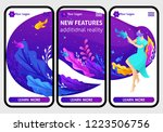 website mobile design templates ... | Shutterstock .eps vector #1223506756