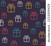 seamless pattern with gift... | Shutterstock .eps vector #1223509429