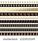 christmas black and gold... | Shutterstock .eps vector #1223513149