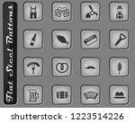 oktoberfest vector web icons on ... | Shutterstock .eps vector #1223514226