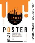 london modern web banner design ... | Shutterstock .eps vector #1223517700