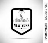 new york city modern skyline... | Shutterstock .eps vector #1223517733