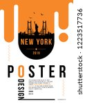 new york city modern skyline... | Shutterstock .eps vector #1223517736