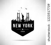 new york city modern skyline... | Shutterstock .eps vector #1223517739