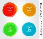 abstract shape vector set... | Shutterstock .eps vector #1223518900