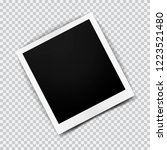 old empty realistic photo frame ... | Shutterstock .eps vector #1223521480