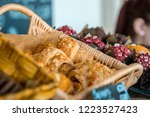 croissants in the cafe | Shutterstock . vector #1223527423