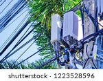 micro cellular 3g  4g  5g. base ... | Shutterstock . vector #1223528596