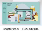 the web page design templates... | Shutterstock .eps vector #1223530186