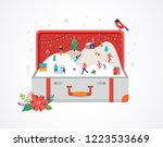 merry christmas  big open... | Shutterstock .eps vector #1223533669