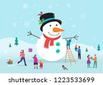 merry christmas card ... | Shutterstock .eps vector #1223533699