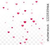 hearts random falling... | Shutterstock .eps vector #1223535466