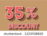 35  off discount promotion sale ...   Shutterstock .eps vector #1223538820