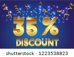 35  off discount promotion sale ...   Shutterstock .eps vector #1223538823