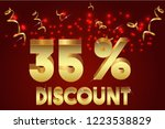 35  off discount promotion sale ...   Shutterstock .eps vector #1223538829