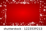 christmas background with white ... | Shutterstock .eps vector #1223539213