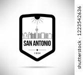 san antonio city modern skyline ... | Shutterstock .eps vector #1223542636