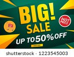 big sale banner template on... | Shutterstock .eps vector #1223545003