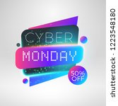 cyber monday sale sticker.... | Shutterstock .eps vector #1223548180