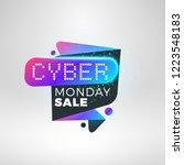 cyber monday sale sticker.... | Shutterstock .eps vector #1223548183