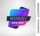 cyber monday sale sticker.... | Shutterstock .eps vector #1223548186