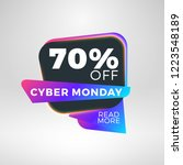 cyber monday sale sticker.... | Shutterstock .eps vector #1223548189