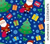 santa seamless pattern  repeat... | Shutterstock .eps vector #1223561476