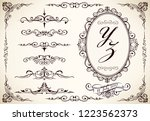 wedding label and border... | Shutterstock .eps vector #1223562373
