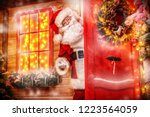 christmas concept. portrait of... | Shutterstock . vector #1223564059