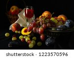 Basket Of Apples  Vase With...