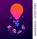 goal achievement   modern... | Shutterstock .eps vector #1223572363