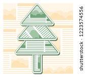 green christmas fir tree from... | Shutterstock .eps vector #1223574556