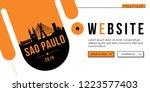sao paulo modern web banner... | Shutterstock .eps vector #1223577403