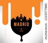 madrid modern web banner design ... | Shutterstock .eps vector #1223577880