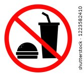 do not eat and drink icon for...